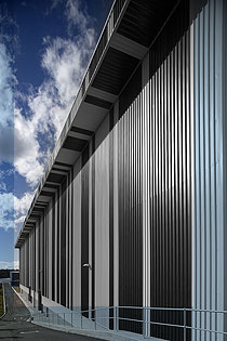 Recall's landmark barcode building is clad in 21,000 square metres of LYSAGHT INTEGRITY® 820.